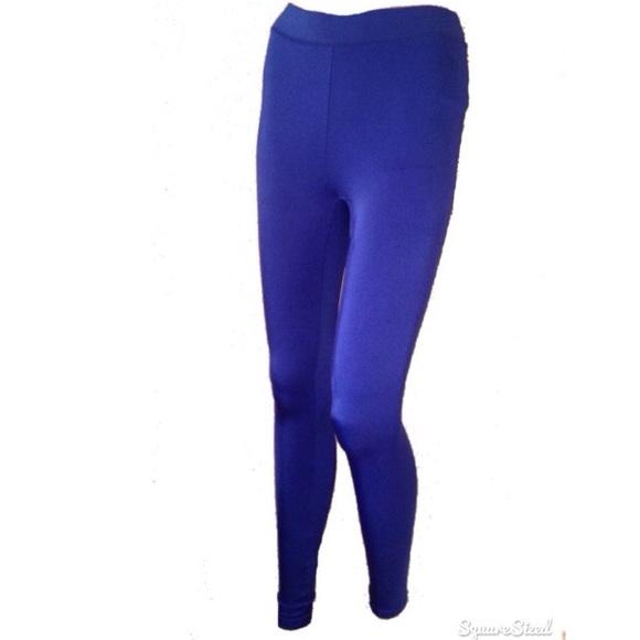 1aea6190484ac PINK Victoria's Secret Pants | Pink Victoria Secret Metallic Blue ...